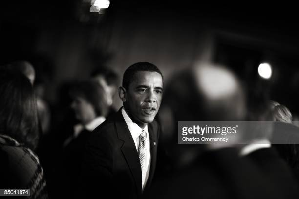 President Barack Obama addresses the Business Council in the East Room of the White House in Washington on February 13 2009 The US Congress is set to...