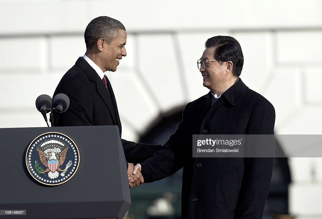 Obama Hosts Chinese President Hu Jintao For State Visit At White House : News Photo