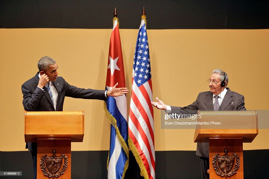 U.S. President Barack Obama and Cuban President Raul Castro hold a joint press conference at the Cuban State Council, on March 21, 2016 in Havana, Cuba. Mr. Obama, who is on a 48 hour trip to Cuba, is the first sitting U.S. President to visit Cuba in almost 90 years.
