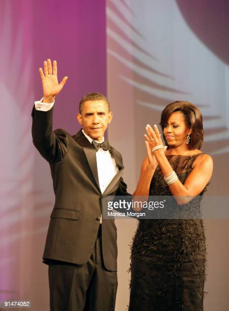 President Barack Obama and First Lady Michelle Obama attend the Congressional Black Caucus 39th Annual Legislative Conference's Phoenix Awards Dinner...