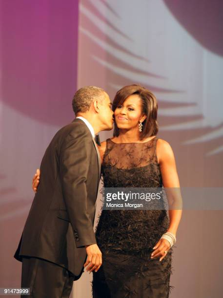 President Barack Obama and First Lady Michelle Obama attends the Congressional Black Caucus 39th Annual Legislative Conference's Phoenix Awards...