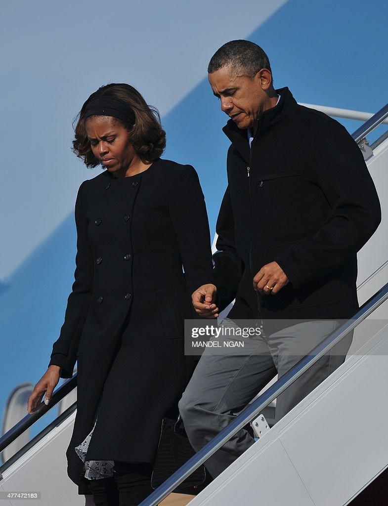 US-POLITICS-OBAMA-VACATION-RETURN : News Photo