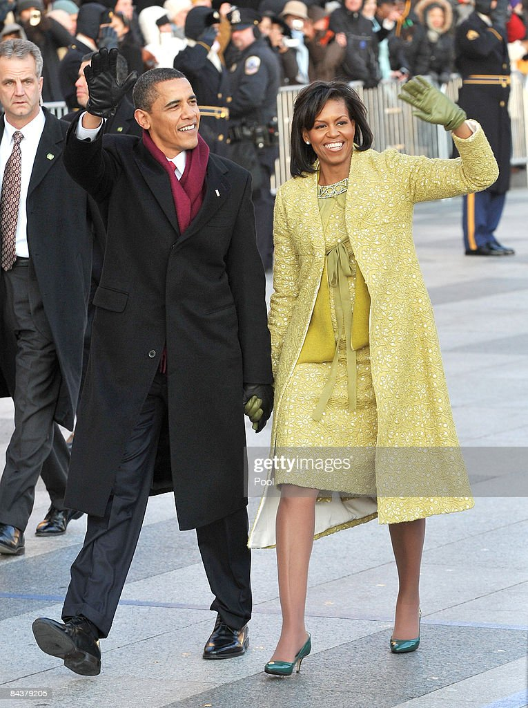 Barack Obama Is Sworn In As 44th President Of The United States : News Photo