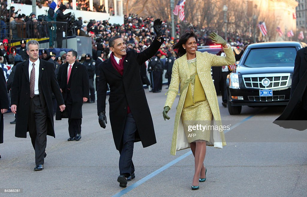 US President Barack Obama and First Lady : News Photo