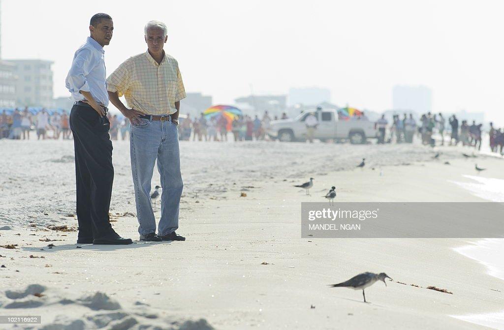 Pres. Obama Tours Oil Spill Gulf Area
