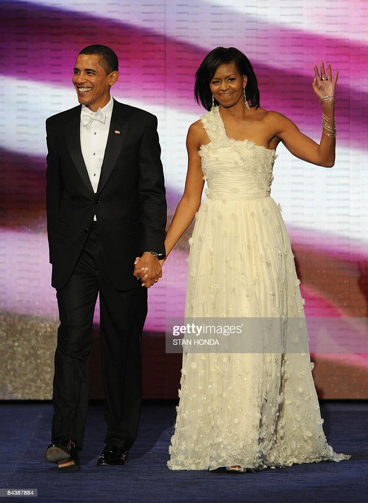 US President Barack Obama and his wife M : News Photo