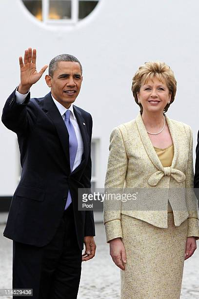 S President Barack Obama and Irish President Mary McAleese meet at Aras an Uachtarain the official residence of the President of Ireland May 23 2011...