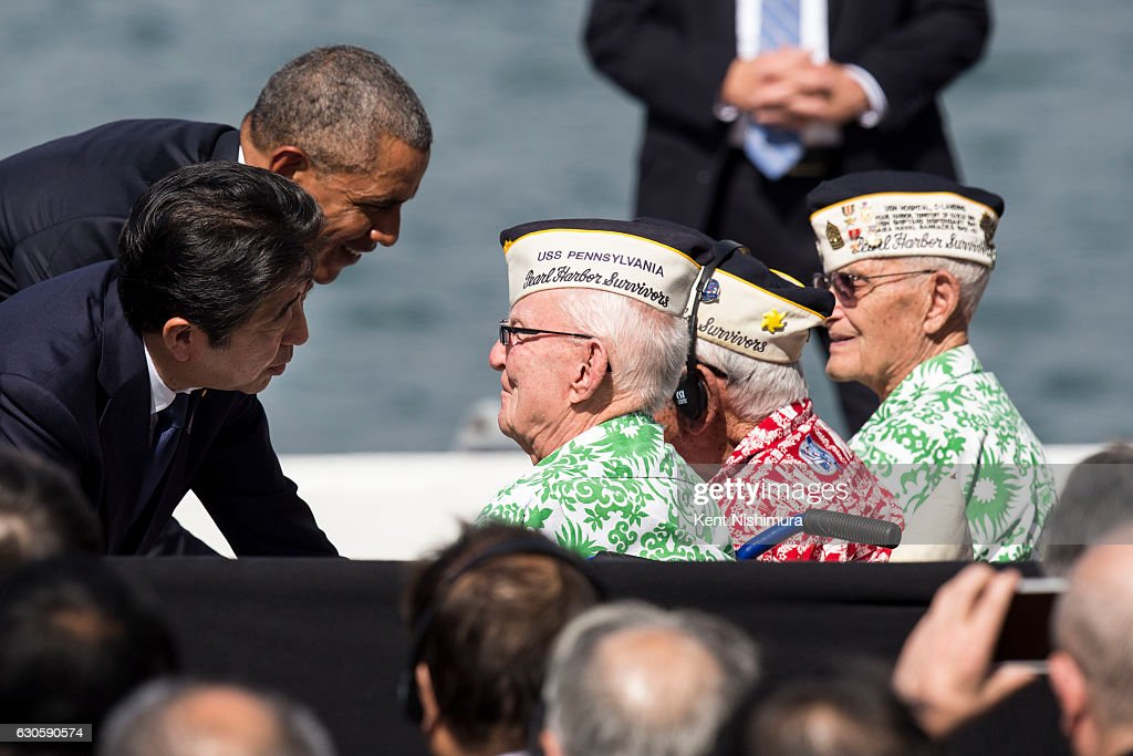 President Obama Meets With Japanese P.M. Shinzo Abe In Hawaii : News Photo