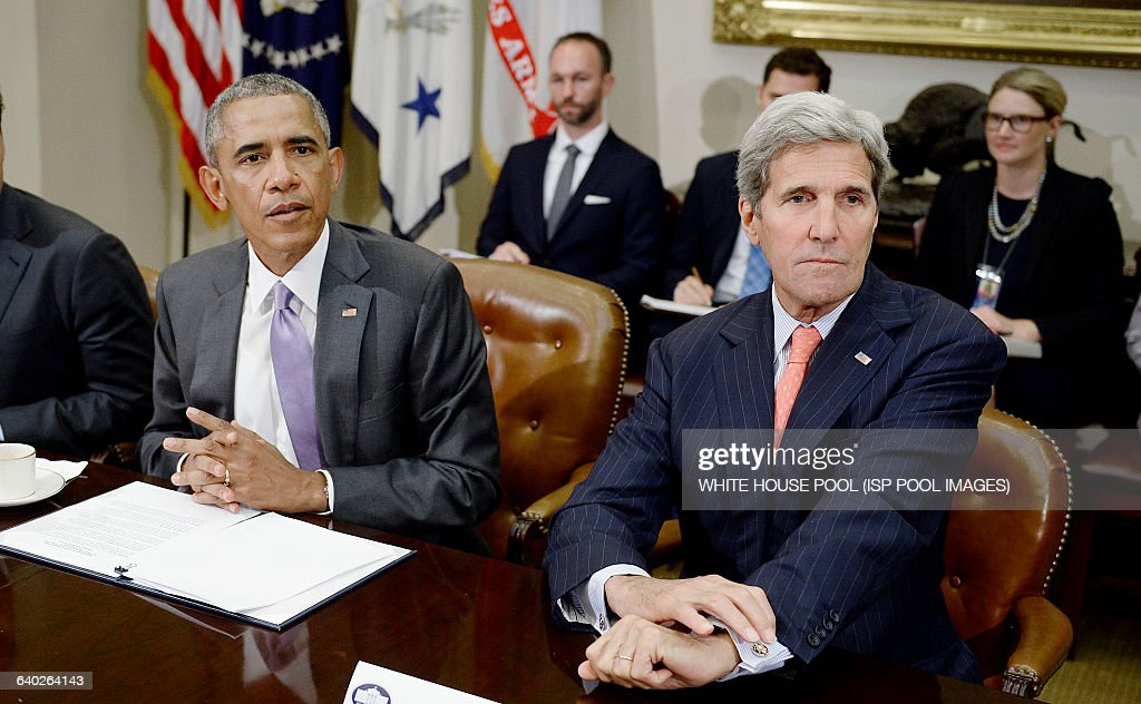 President Obama metts President meets with veterans to discuss the Iran Nuclear deal - DC : News Photo