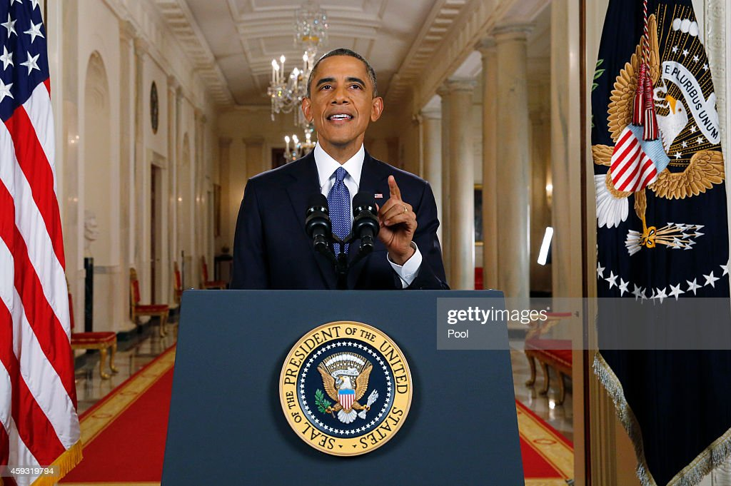 President Obama Delivers Remarks On Executive Action Immigration Reform : News Photo