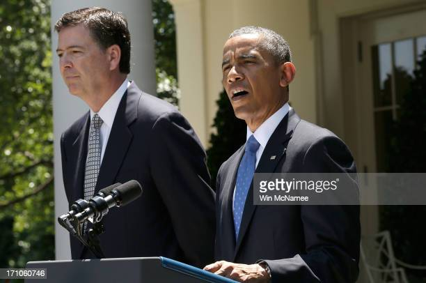 S President Barack Obama announces FBI Director nominee James Comey during a ceremony in the Rose Garden of the White House June 21 2013 in...