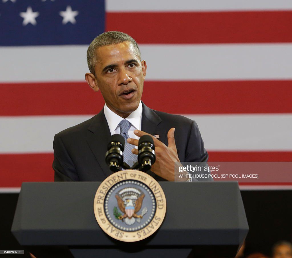 "U.S. President Barack Obama talks on ""My Brother's Keeper"" initiative : News Photo"