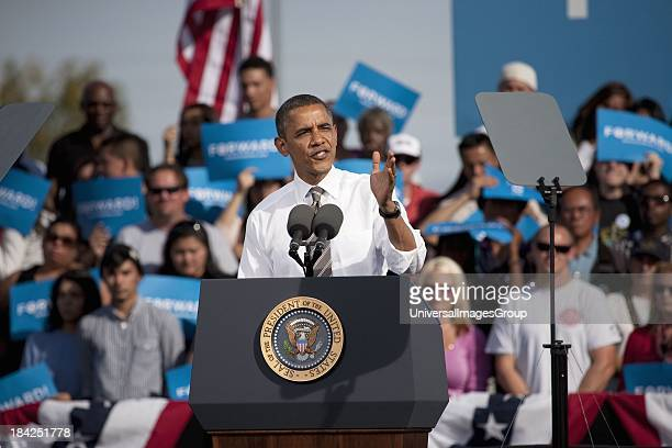 President Barack Obama appears at Presidential Campaign Rally November 1 2012 at Cheyenne Sports Complex North Las Vegas Nevada