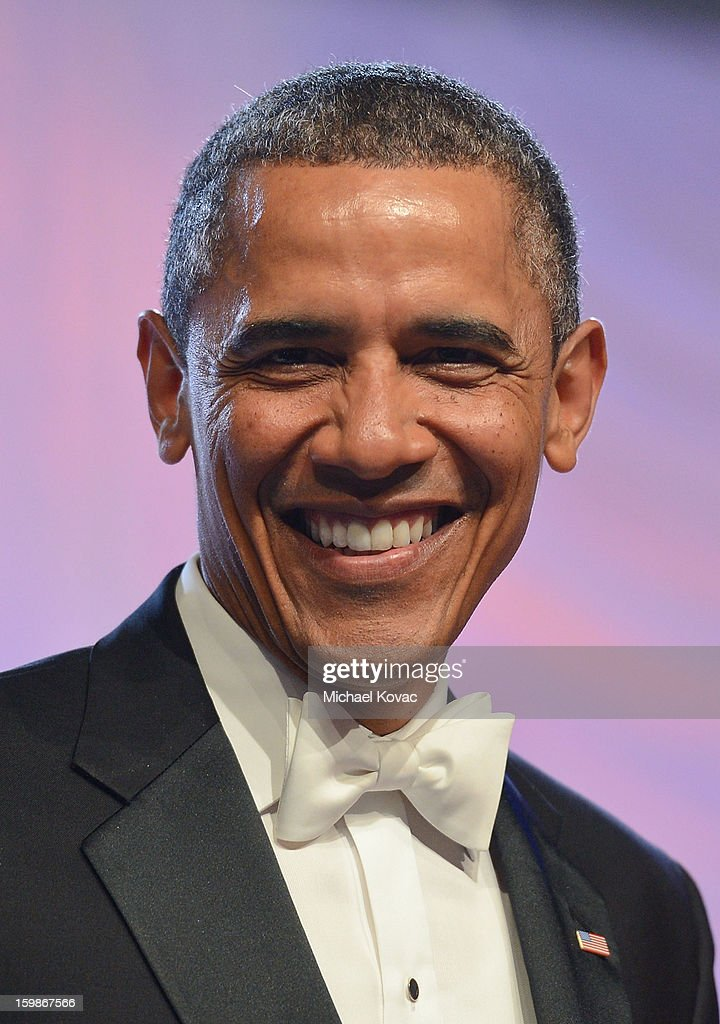 U.S. President Barack Obama arrives for The Inaugural Ball at the Walter E. Washington Convention Center on January 21, 2013 in Washington, United States.