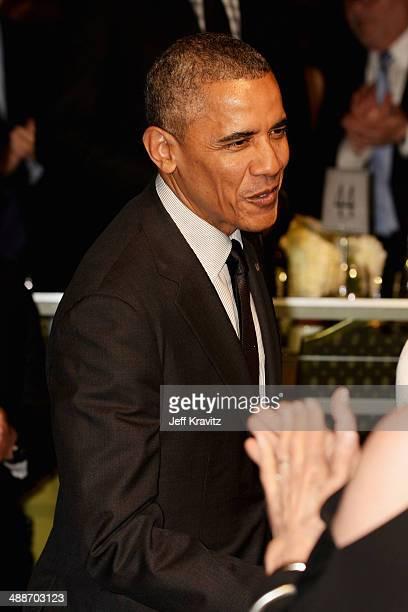 President Barack Obama attends USC Shoah Foundation's 20th Anniversary Gala at the Hyatt Regency Century Plaza on May 7, 2014 in Century City,...