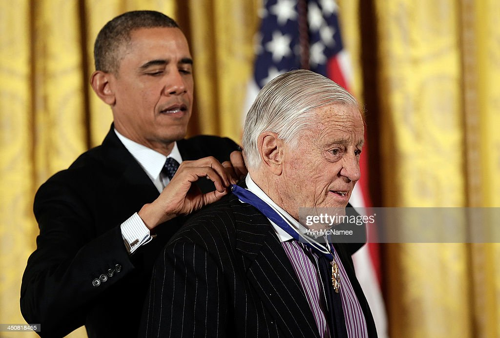 President Obama Awards Presidential Medal Of Freedom : News Photo