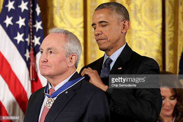 S President Barack Obama awards the Presidential Medal of Freedom to Television producer and screenwriter Lorne Michaels during a ceremony in the...