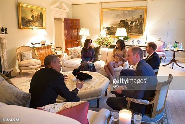 President Barack Obama , Britain's Prince William, Duke of Cambridge US First Lady Michelle Obama , Catherine, Duchess of Cambridge and Britain's...