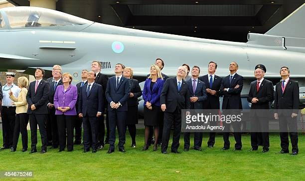 President Barack Obama British Prime Minister David Cameron President of Romania Traian Basesku NATO Secretary General Anders Fogh Rasmussen German...