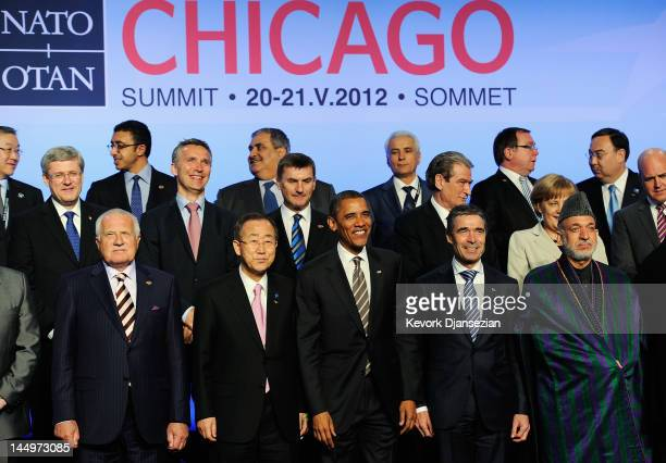 S President Barack Obama Czech Republic President Vaclav Klaus UN Secretary General Ban Kimoon NATO Secretary General Anders Fogh Rasmussen and...