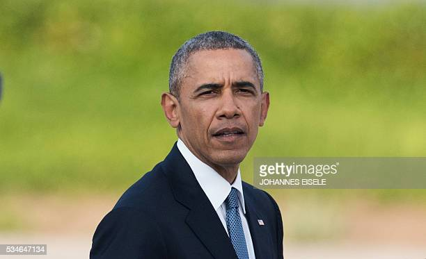 US President Barack Obama delivers a speech at the Hiroshima Peace Memorial park cenotaph in Hiroshima on May 27 2016 Obama became the first sitting...