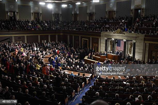 President Barack Obama delivers his State of the Union address before a joint session of Congress on Tuesday January 20 2015 in Washington DC