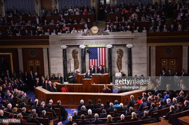 President Barack Obama delivers his State of the Union address before a joint session of Congress on January 12 2016 at the US Capitol in Washington...