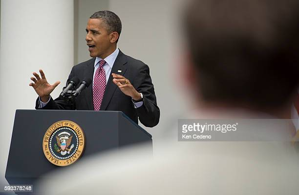 President Barack Obama delivers remarks about the Department of Homeland Security's recent announcement about deportation of illegal immigrants in...