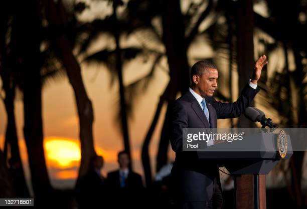 S President Barack Obama delivers remarks at a press conference after the closing plenary session of the AsiaPacific Economic Cooperation summit at...