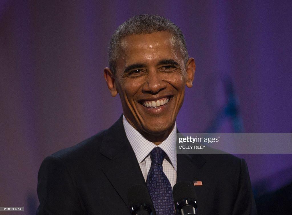 US-POLITICS-OBAMA-BET : News Photo