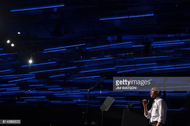 US President Barack Obama delivers remarks at an event for the Ohio Democratic Party and Governor Ted Strickland in Columbus Ohio October 13 2016 /...
