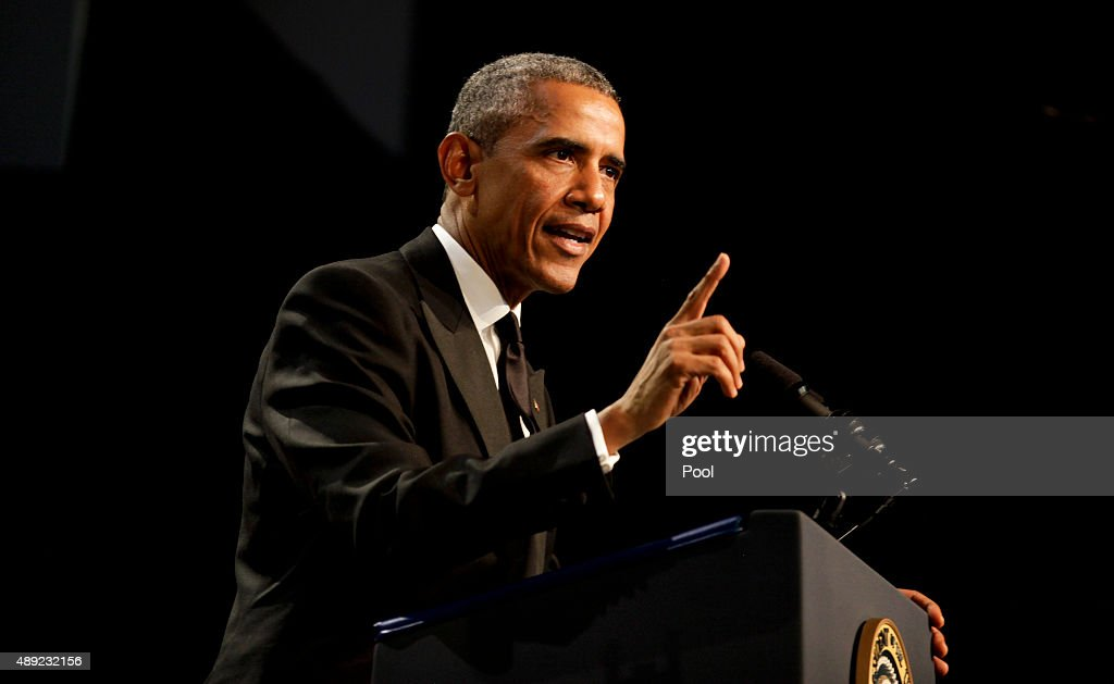 President Obama Attends the Congressional Black Caucus Dinner : News Photo