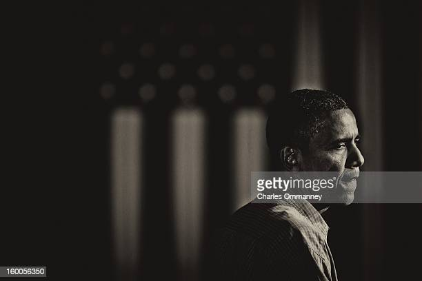 US President Barack Obama delivers remarks during a campaign event at Herman Park in Boone Iowa on August 13 2012