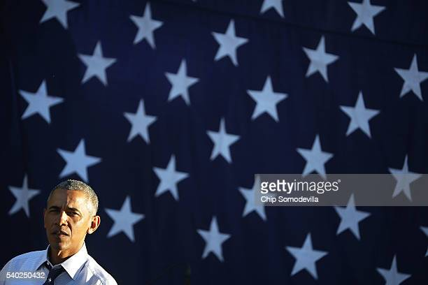 President Barack Obama delivers remarks during the annual picnic for Members of Congress at the White House June 14, 2016 in Washington, DC. Earlier...