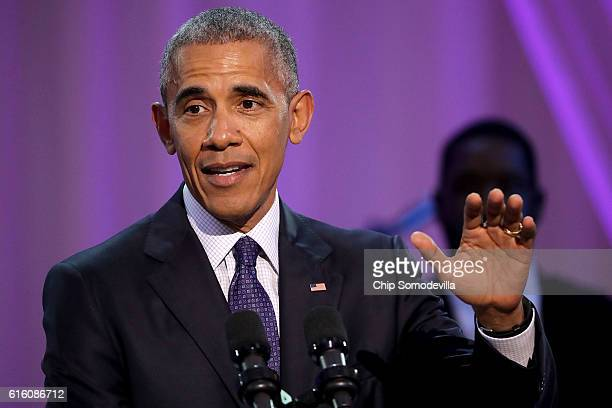 S President Barack Obama delivers remarks during the BET's 'Love and Happiness A Musical Experience in a tent on the South Lawn of the White House...