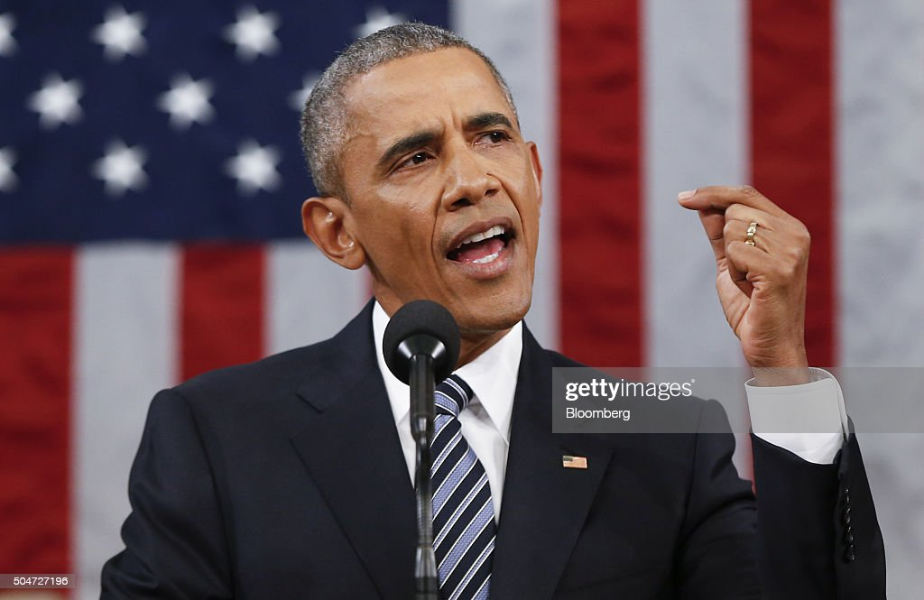 President Barack Obama Delivers Final State Of The Union Address : News Photo