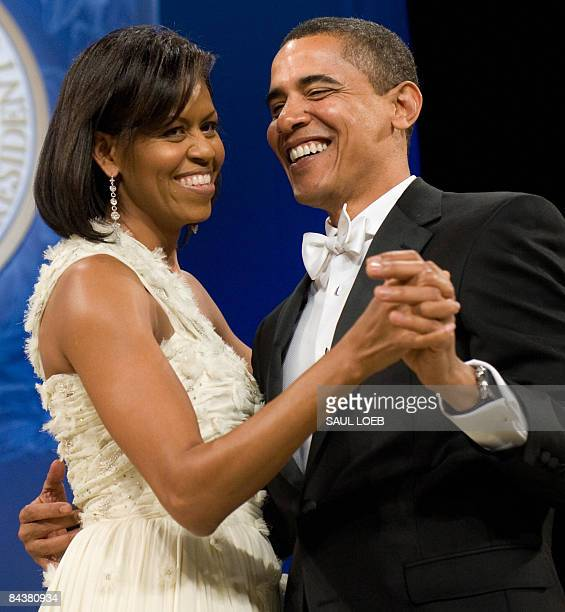 President Barack Obama during the Obama Home States Inaugural Ball at the Washington Convention Center in Washington, DC, January 20, 2009. Obama was...
