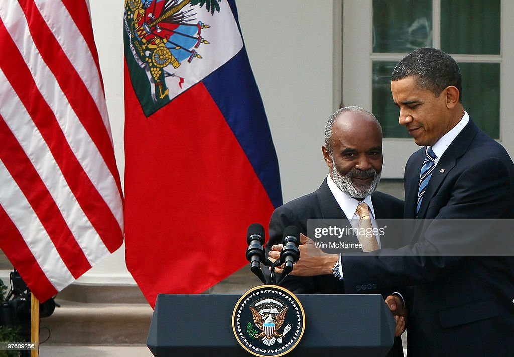 Obama Meets With Haitian President Preval At White House