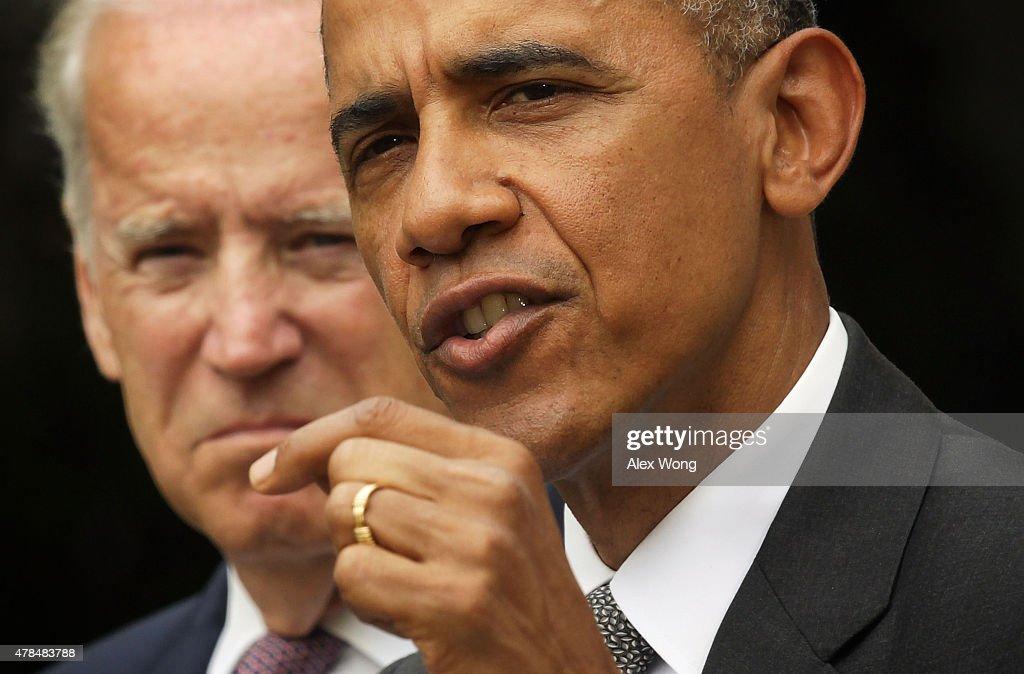 President Obama Speaks On Supreme Court Healthcare Decision : News Photo
