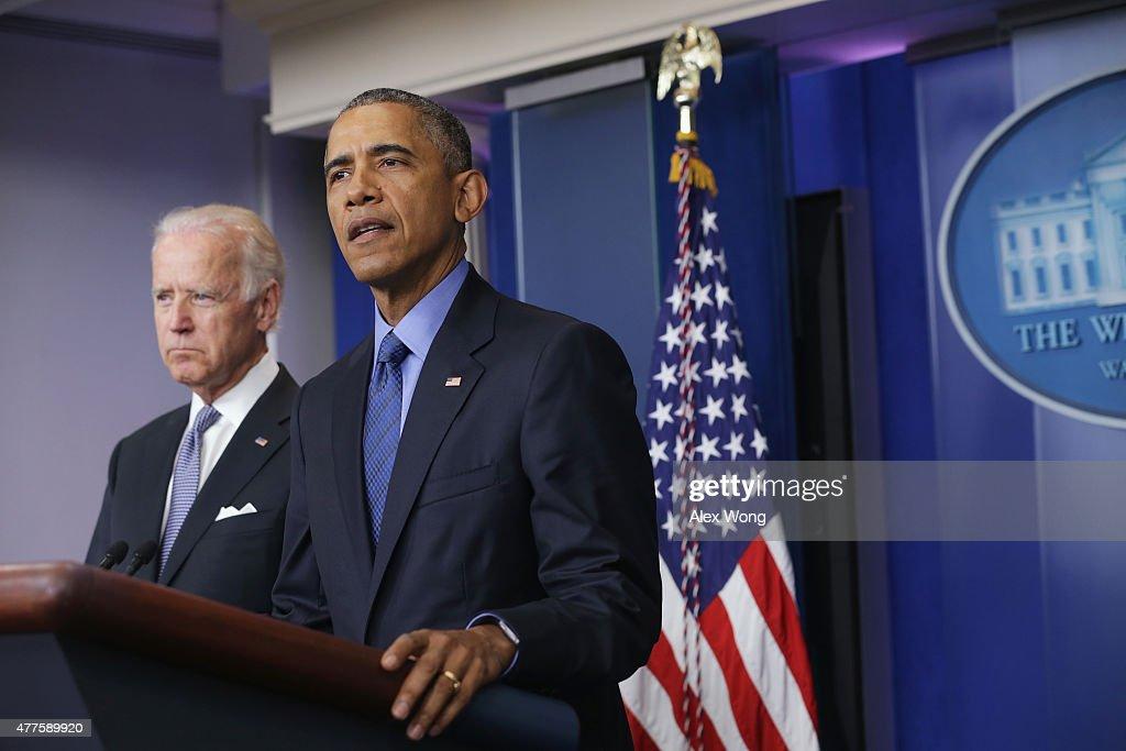 President Obama Addresses The Shooting That Killed 9 At Church In Charleston, South Carolina : News Photo