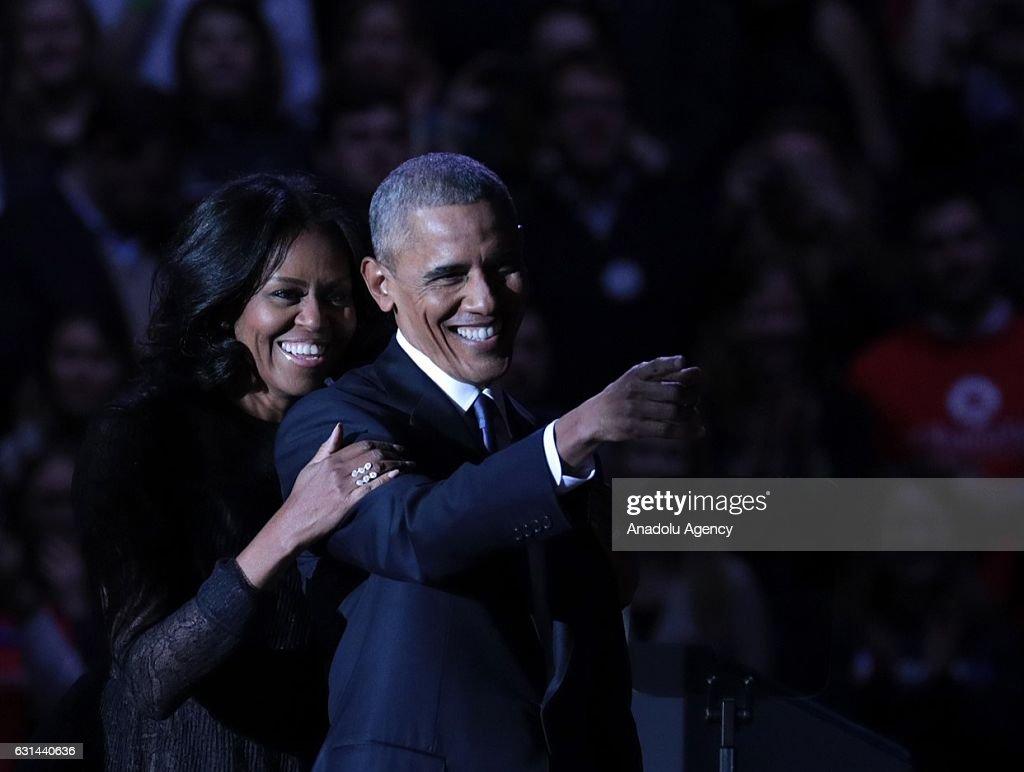 US President Barack Obama delivers his farewell address : News Photo