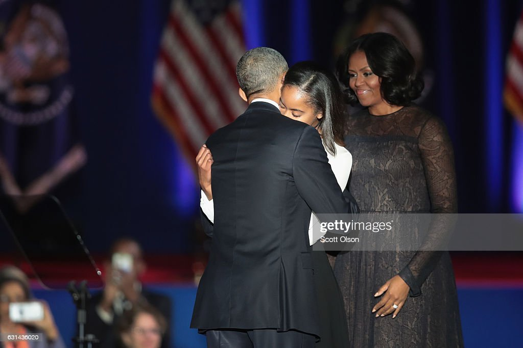 President Obama Delivers Farewell Address In Chicago : News Photo