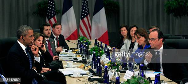 President Barack Obama holds a bilateral meeting with President Francois Hollande of France at the Nuclear Security Summit March 31, 2016 in...