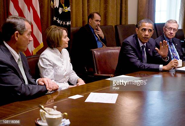 S President Barack Obama holds a bipartisan meeting in the Cabinet Room of the White House with House Minority Leader John Boehner Speaker of the...