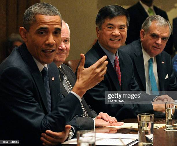 US President Barack Obama holds a Cabinet meeting on September 15 2010 at the White House in Washington DC Participants include US Defense Secretary...