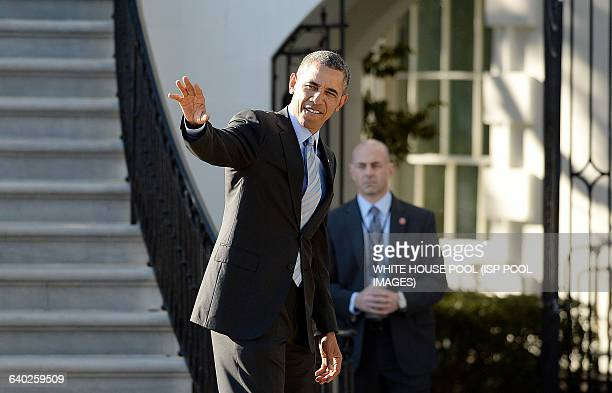 President Barack Obama hosts the 2012-2013 NCAA Division I Men's and Women's Champions on the South Lawn of the White House on March 10 2014 in...