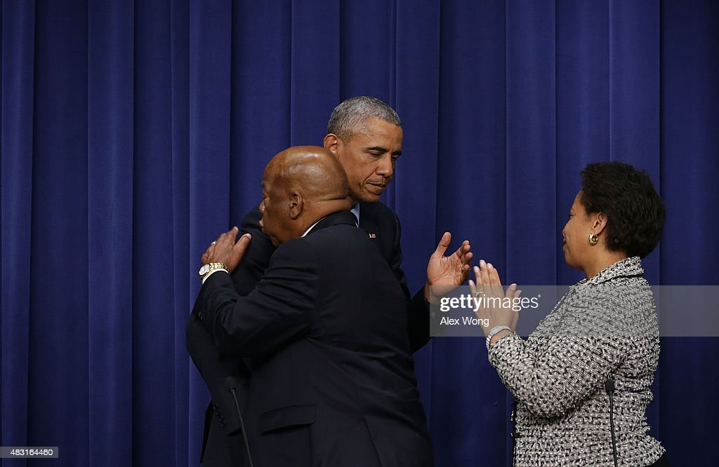 President Obama Commemorates 50th Anniversary Of Voting Rights Act : News Photo