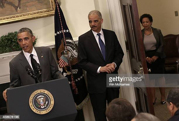 S President Barack Obama introduced Loretta Lynch as his nominee to replace Eric Holder as Attorney General during a ceremony in the Roosevelt Room...
