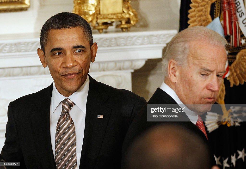 Obama, Biden Address Nat'l Governor's Association At White House : News Photo