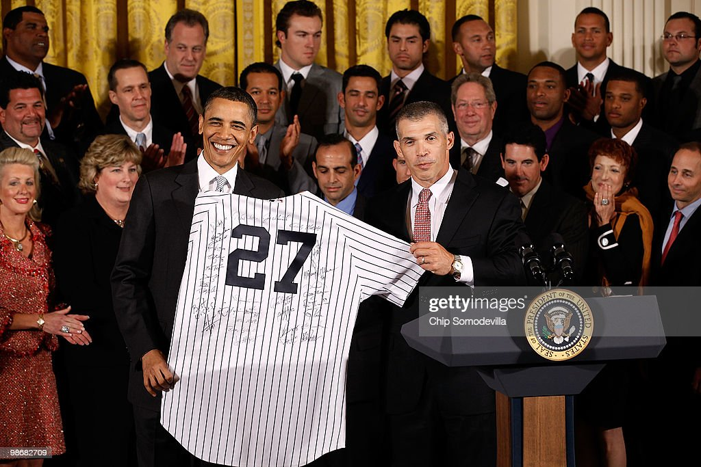 Obama Meets With World Champion NY Yankees At White House